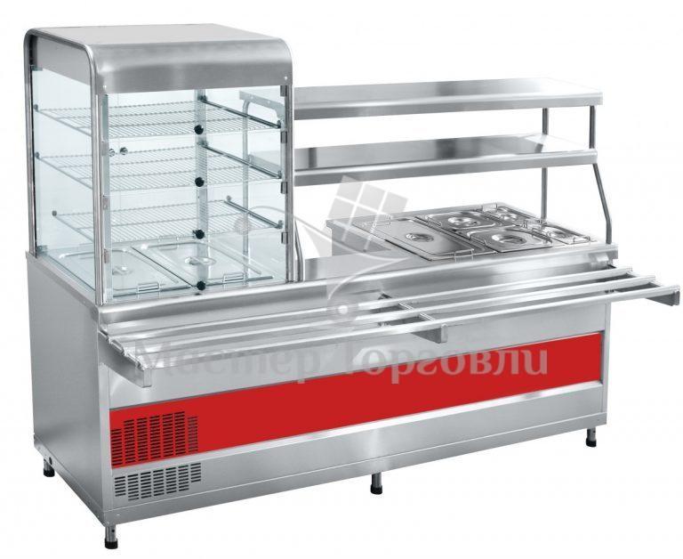 Прилавок холодильный мармитный Abat ПВХМ-70КМУ нерж.