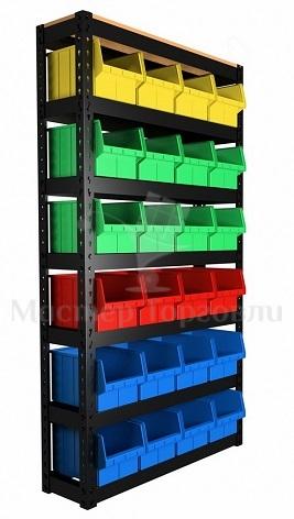 Стеллаж складской с пластиковыми ящиками (арт.70)