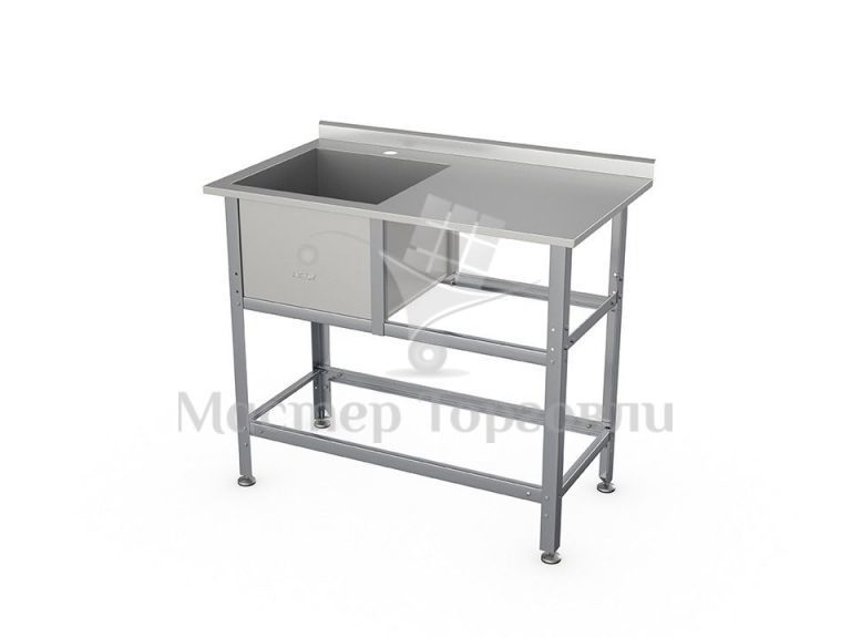 Ванна моечная ATESY ВСМС-Б-1Л.430-1010.580-1-02