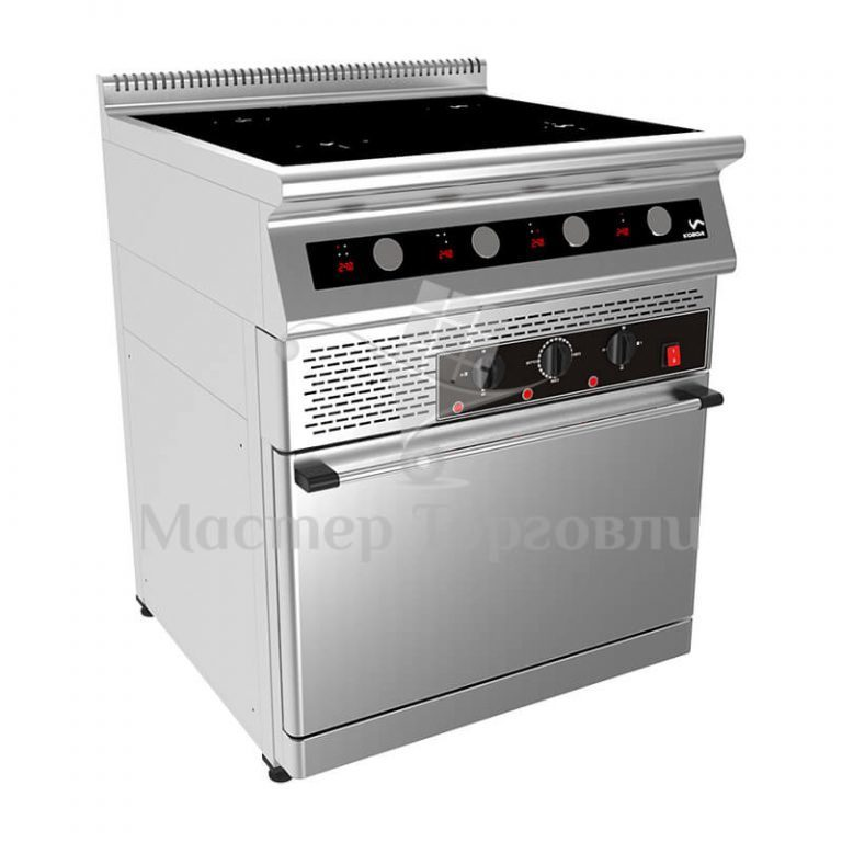 Плита индукционная с духовым шкафом Кобор I7-4SO